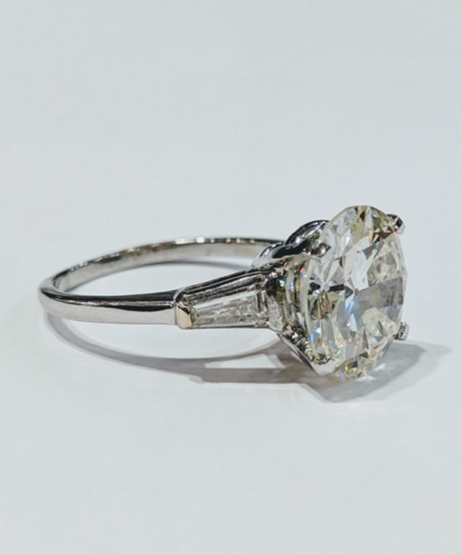5.38ct GIA VS2/L Diamond, .30ctw Diamond 18K Ring - 3