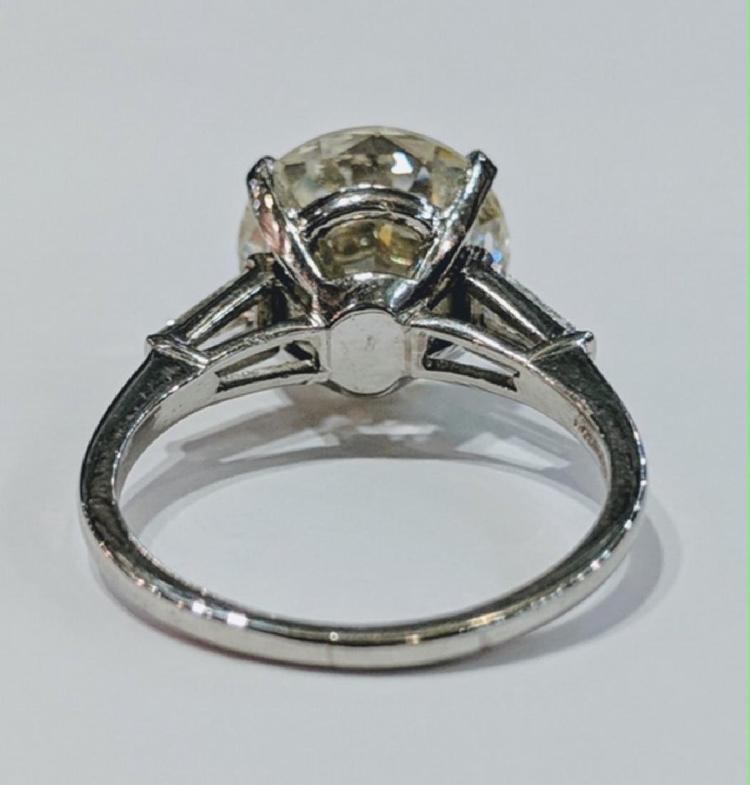 5.38ct GIA VS2/L Diamond, .30ctw Diamond 18K Ring - 4