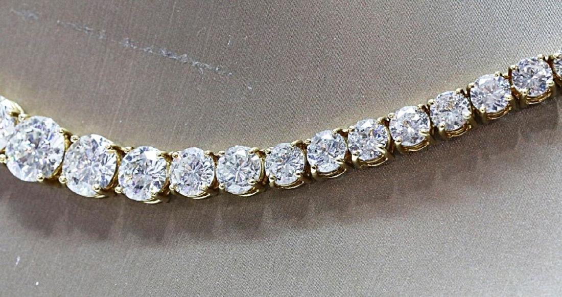 30.70ctw VS1-VS2/G-H Diamond 18K Tennis Necklace - 8