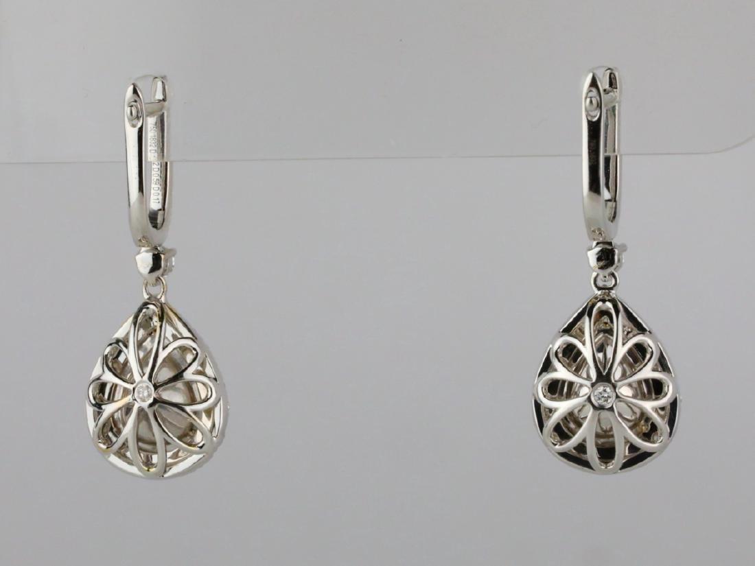 1ctw Green Diamond, 0.95ctw Diamond & 18K Earrings - 6