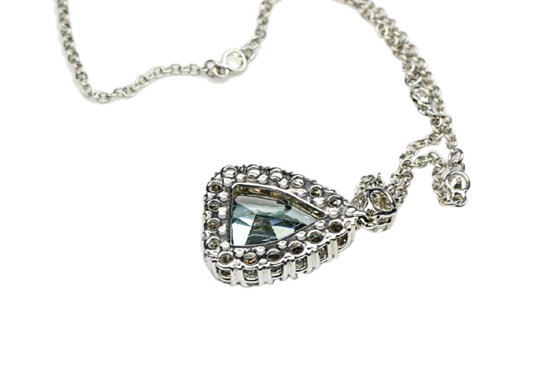 4.13ct GIA VS1 Deep Green Blue Diamond Necklace - 9