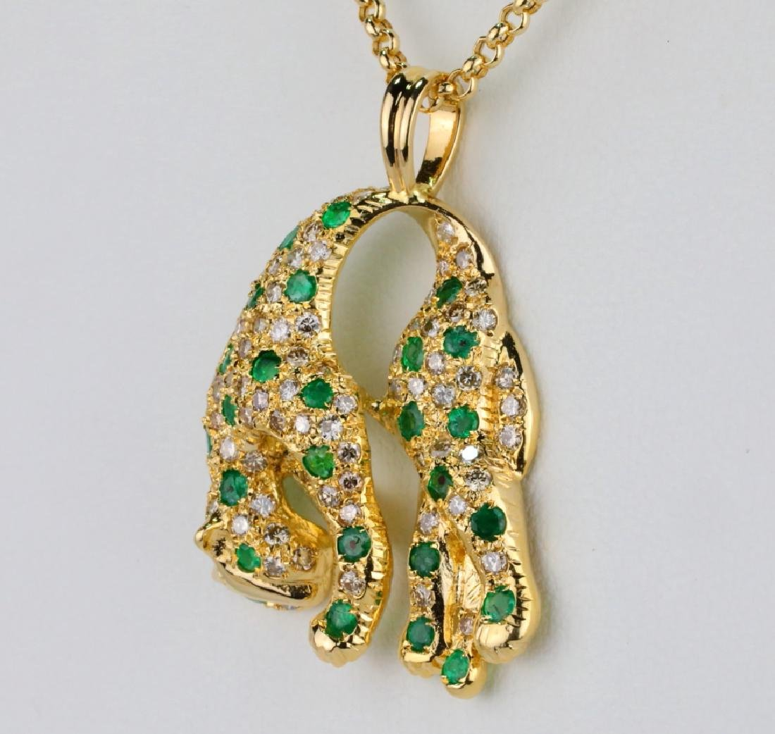 1.3ctw Emerald, 1.15ctw Diamond & 18K Necklace - 3