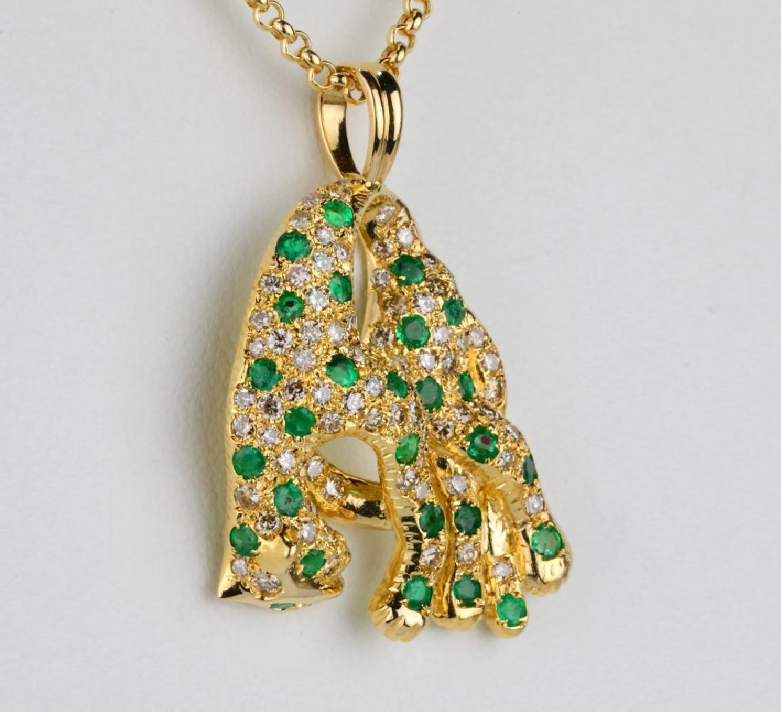 1.3ctw Emerald, 1.15ctw Diamond & 18K Necklace - 4