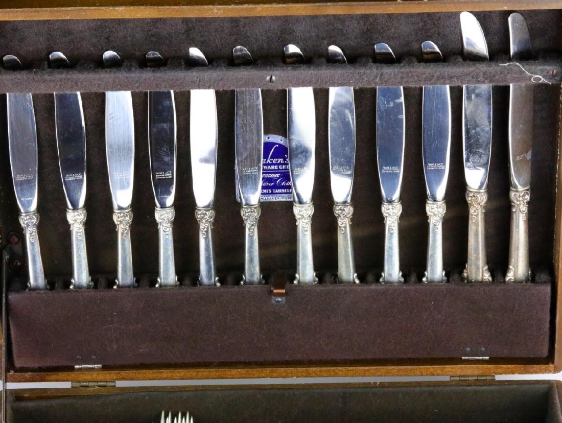 Wallace Grande Baroque Sterling Flatware for (12) - 3