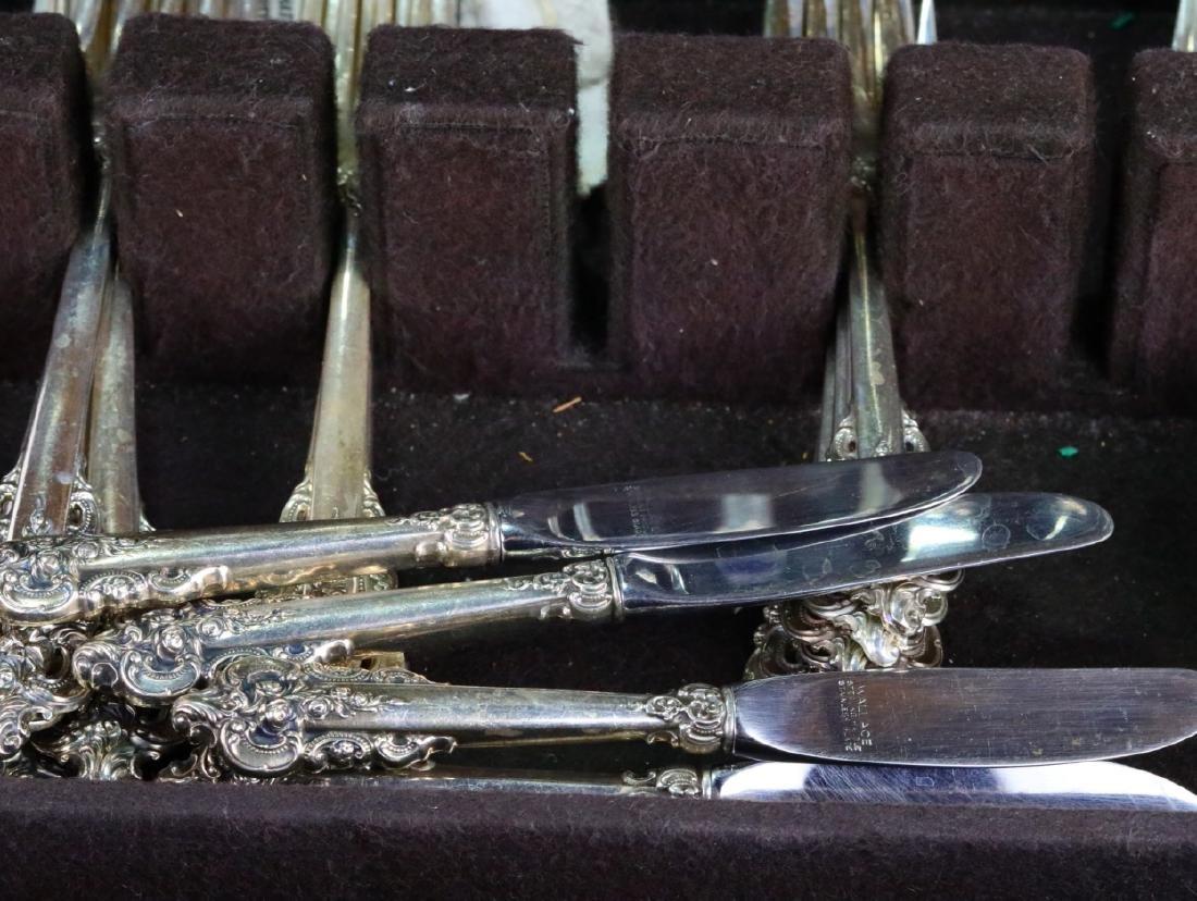 Wallace Grande Baroque Sterling Flatware for (12) - 7