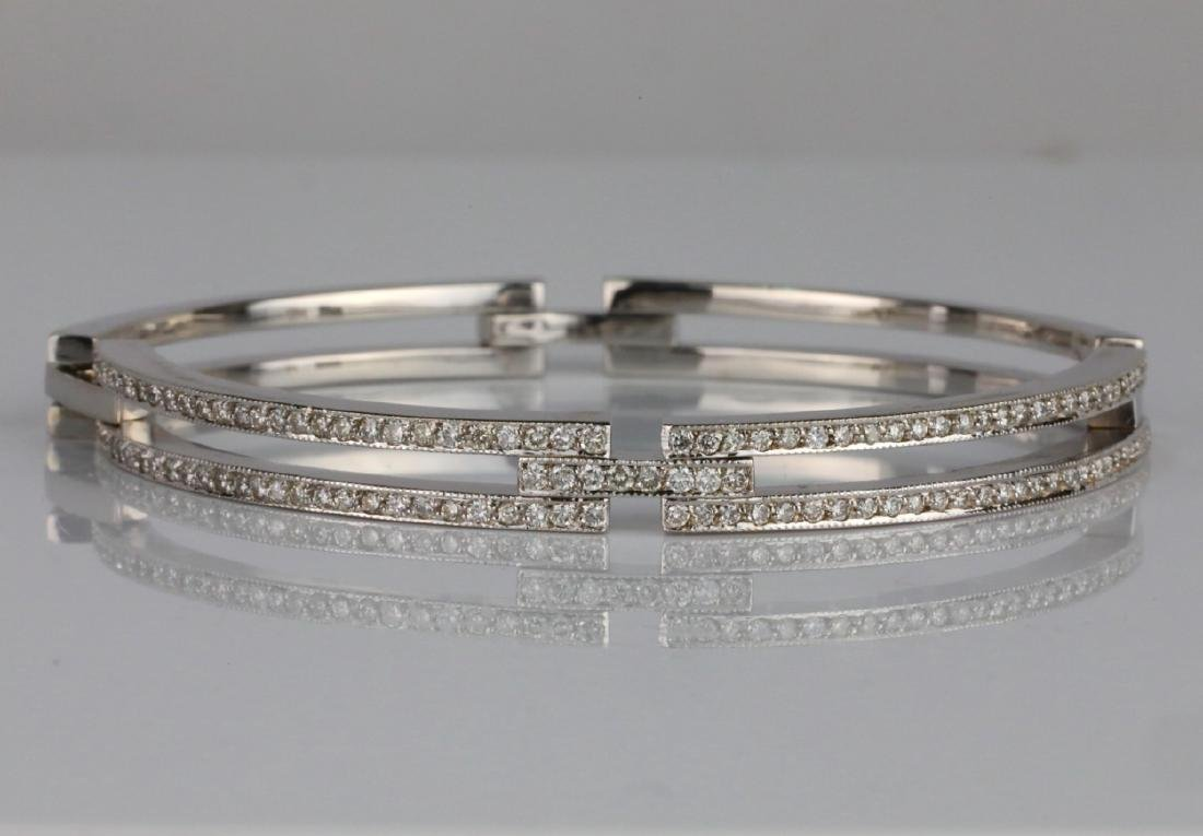 2ctw SI1-SI2/G-H Diamond & 14K 6mm Wide Bracelet