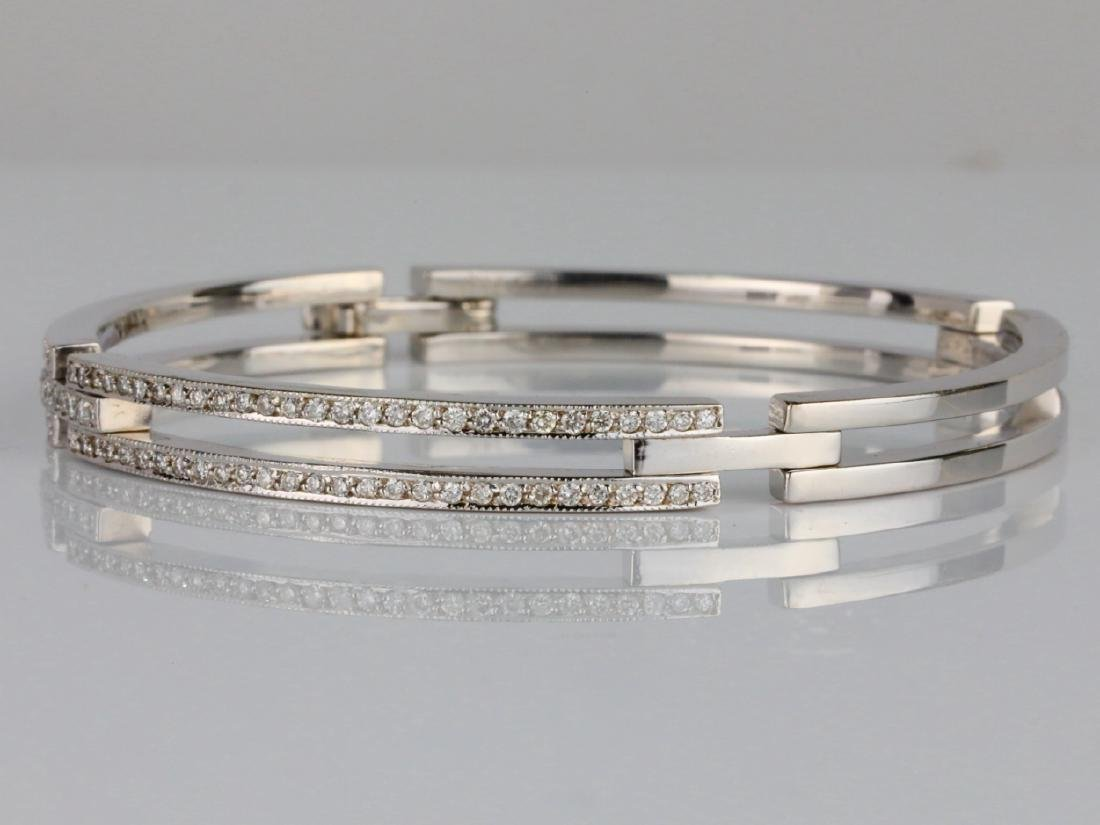 2ctw SI1-SI2/G-H Diamond & 14K 6mm Wide Bracelet - 2