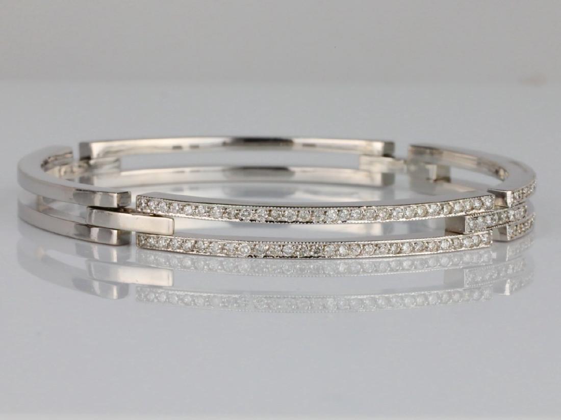 2ctw SI1-SI2/G-H Diamond & 14K 6mm Wide Bracelet - 3