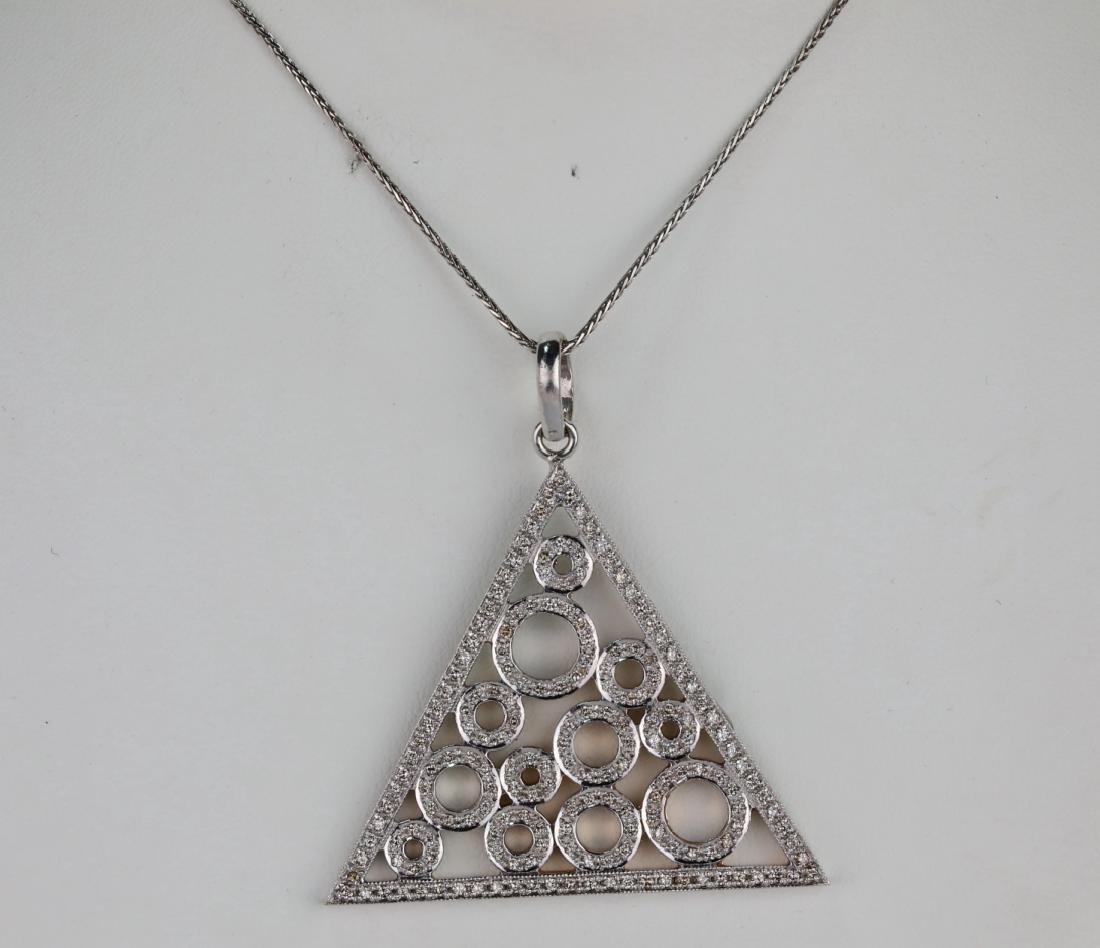 "2.50ctw SI1-SI2/G-H Diamond & 14K 18"" Necklace"