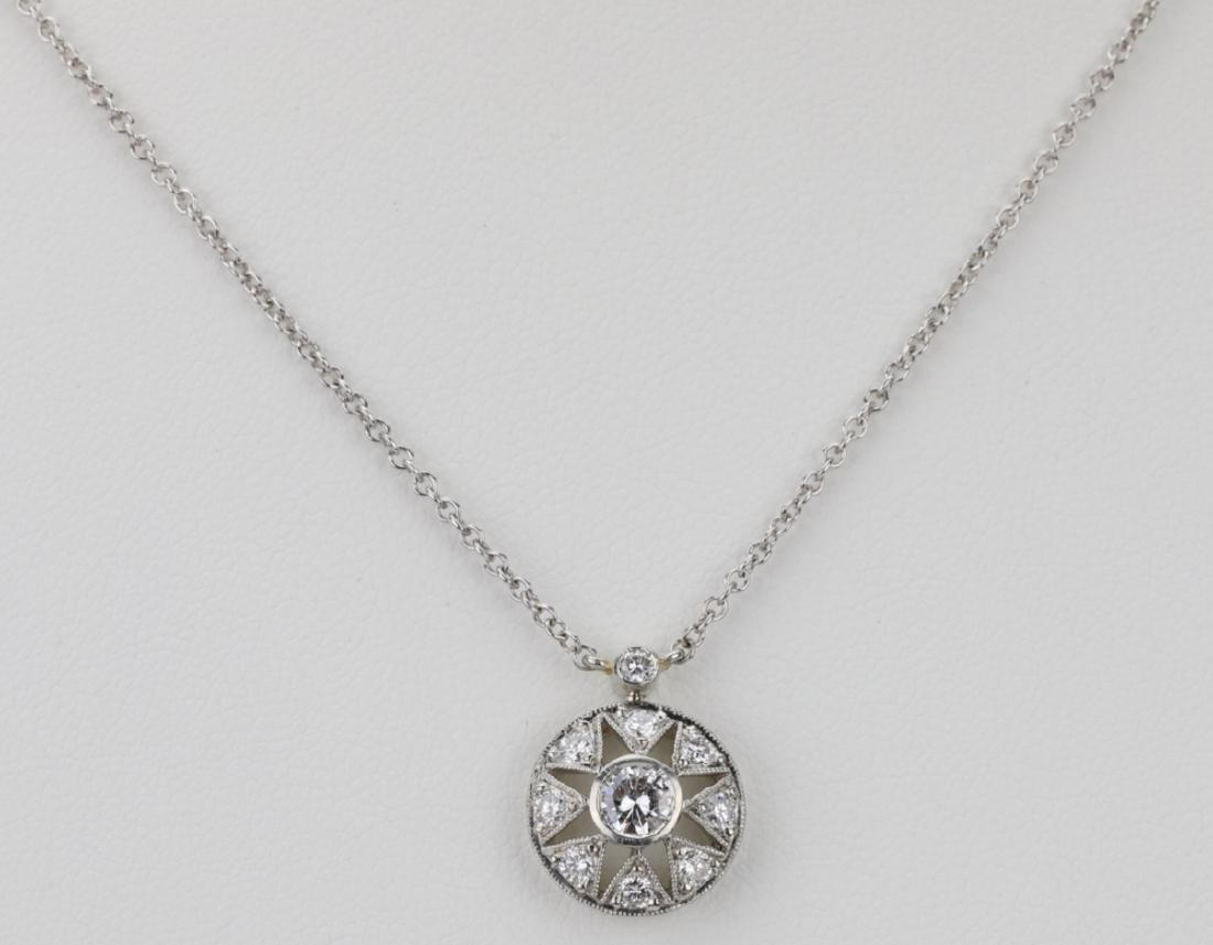 "Platinum & .85ctw VS1-VS2/G-H Diamond 16"" Necklace"