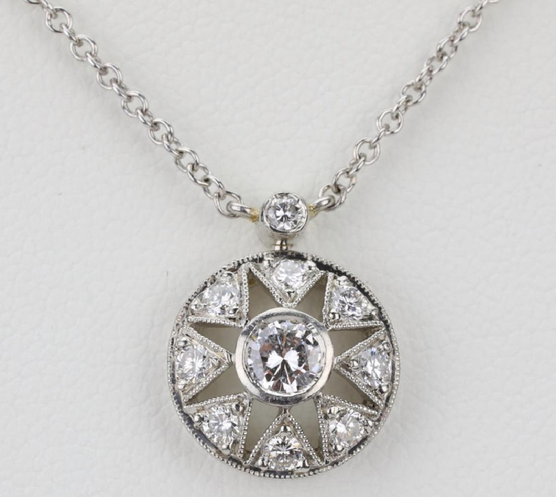 "Platinum & .85ctw VS1-VS2/G-H Diamond 16"" Necklace - 2"
