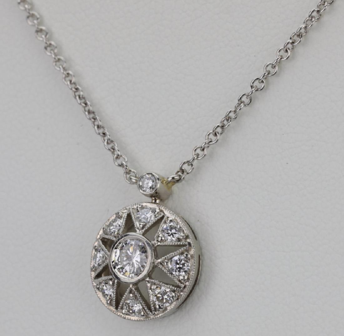 "Platinum & .85ctw VS1-VS2/G-H Diamond 16"" Necklace - 3"