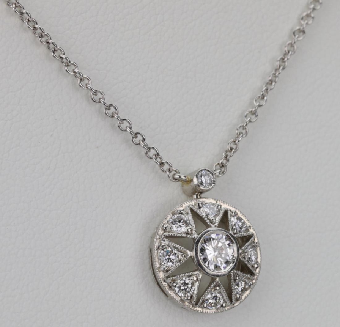"Platinum & .85ctw VS1-VS2/G-H Diamond 16"" Necklace - 4"