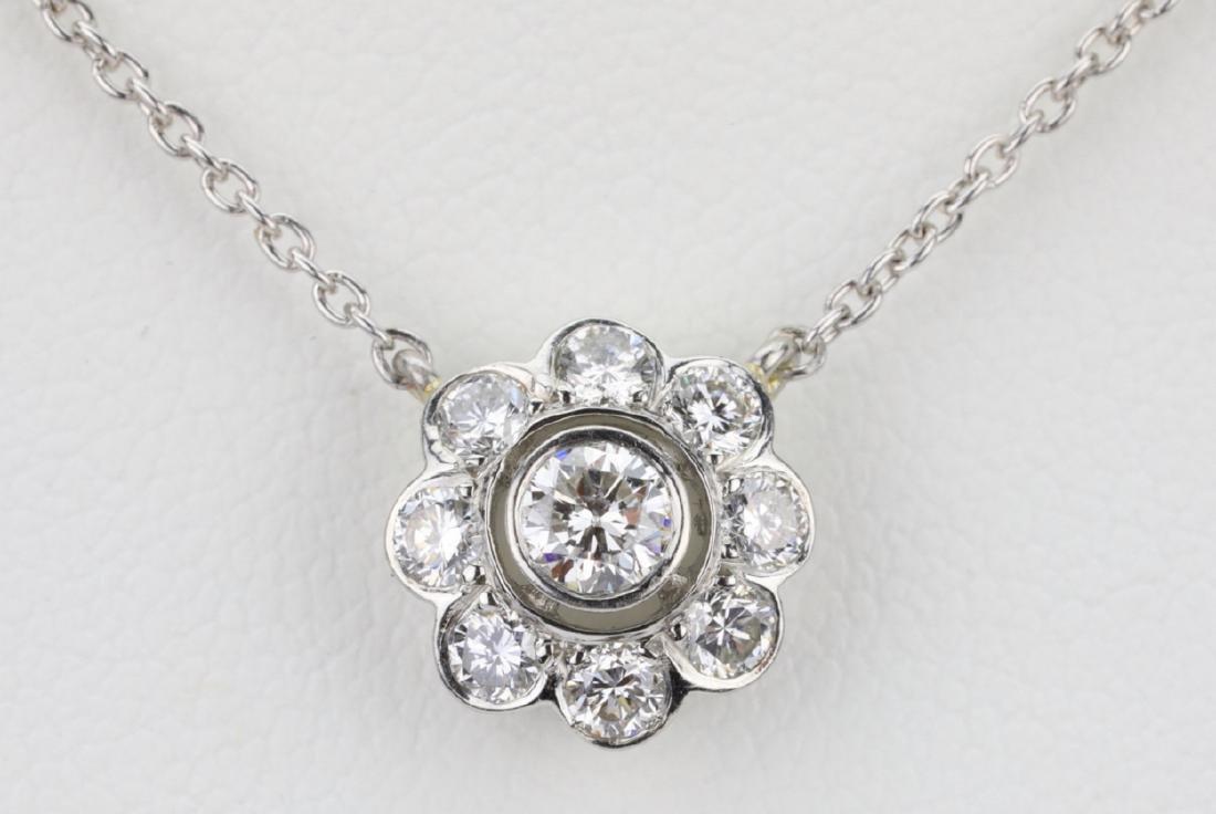 "1ctw VS1-VS2/G-H Diamond & Platinum 16"" Necklace - 2"