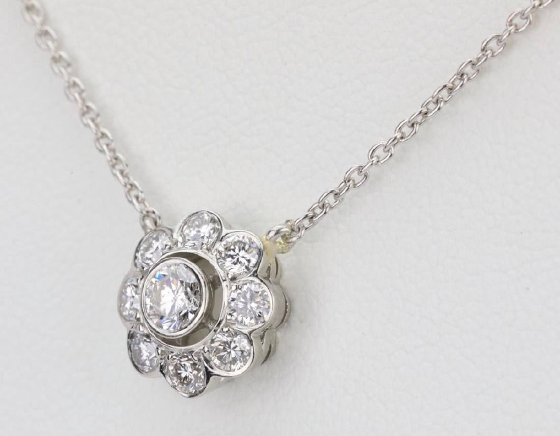 "1ctw VS1-VS2/G-H Diamond & Platinum 16"" Necklace - 3"