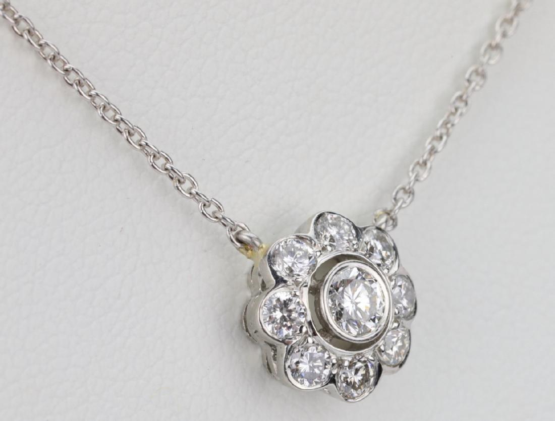 "1ctw VS1-VS2/G-H Diamond & Platinum 16"" Necklace - 4"