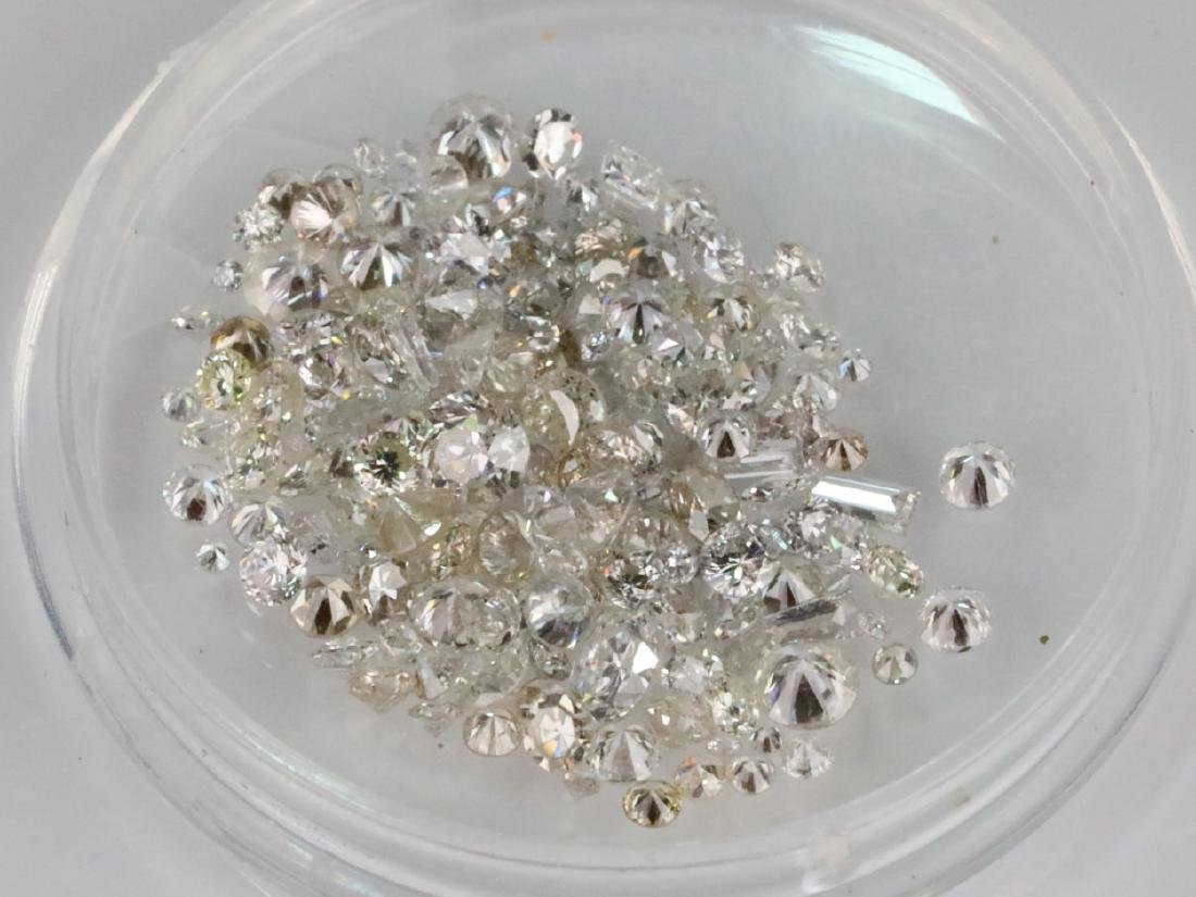 4.13ctw Unsearched Loose Diamonds in Capsule