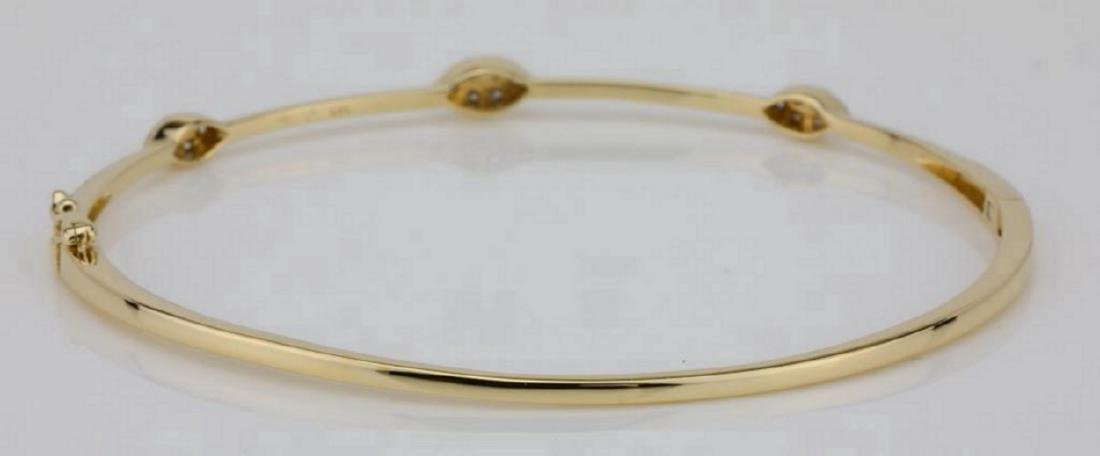 1.00ctw SI1-SI2/G-H Diamond & 14K Bangle Bracelet - 5