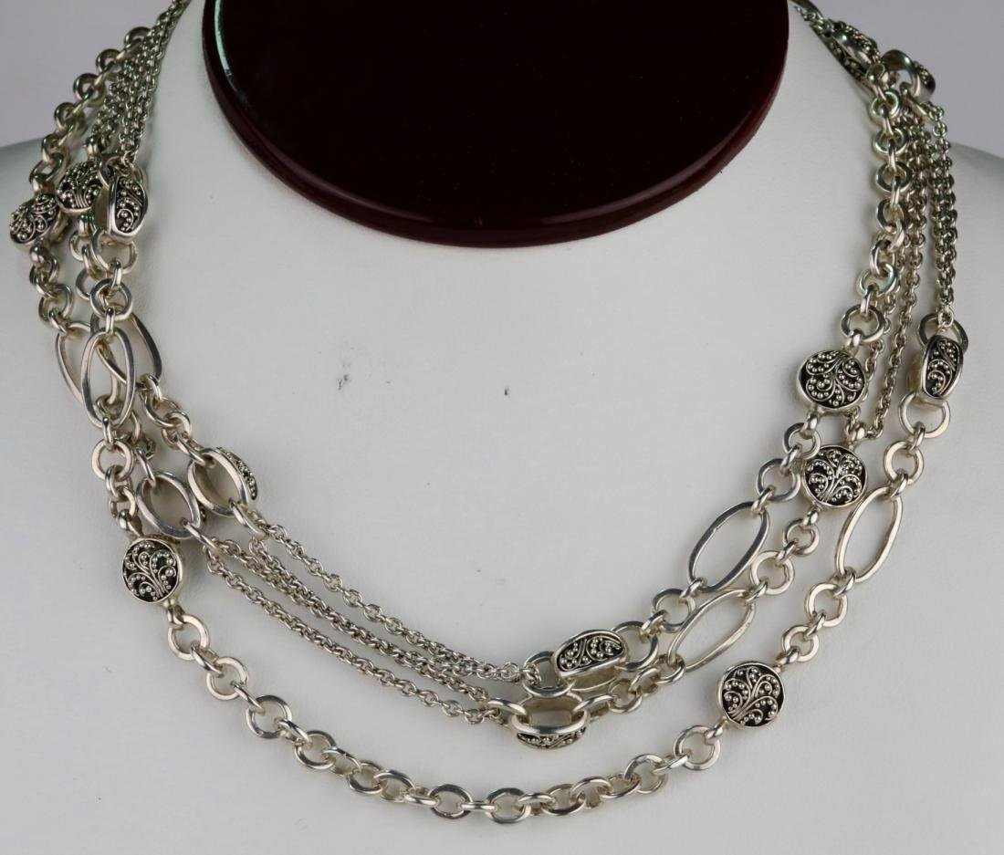 """Lois Hill Sterling Silver 50"""" Sautoir Necklace"""