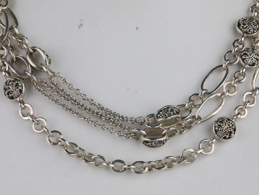 """Lois Hill Sterling Silver 50"""" Sautoir Necklace - 2"""