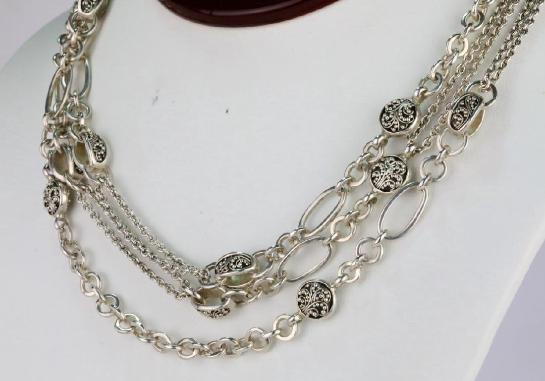 """Lois Hill Sterling Silver 50"""" Sautoir Necklace - 3"""
