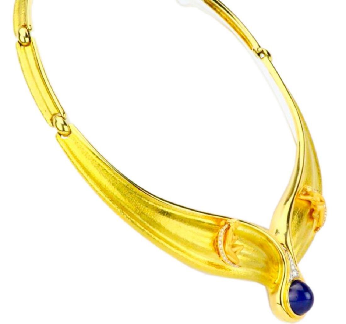 Carrera y Carrera Diamond & Blue Sapphire 18K Necklace - 7