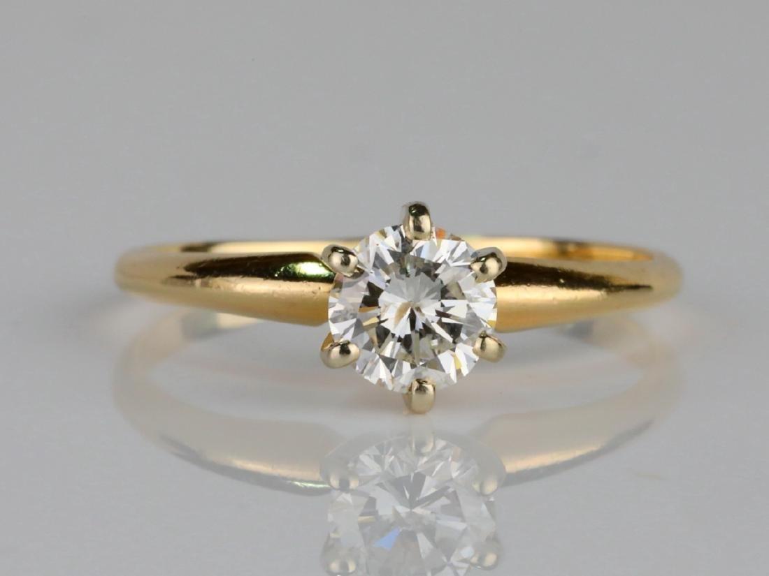 14K & 0.75ct SI1-SI2/G-H Round Cut Diamond Ring