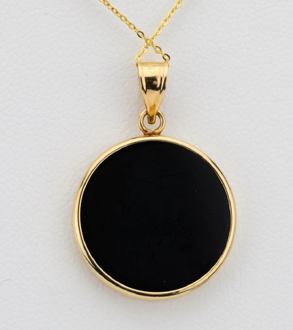 """Designer 1/20 Oz. Gold Coin & 14K 18"""" Necklace - 3"""