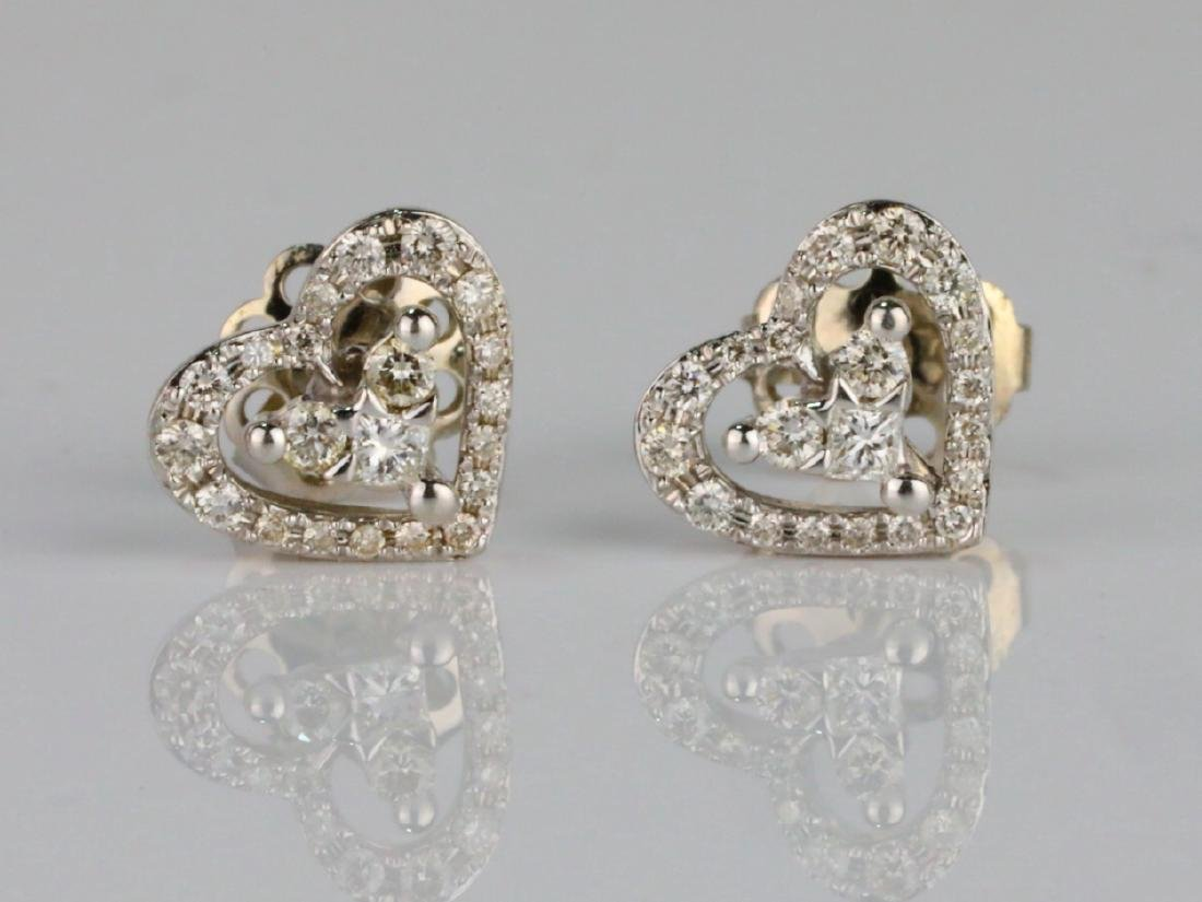 14K & 0.50ctw SI1-SI2/G-H Diamond Stud Earrings
