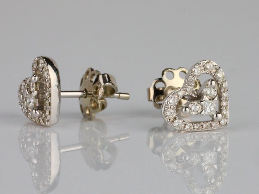14K & 0.50ctw SI1-SI2/G-H Diamond Stud Earrings - 2