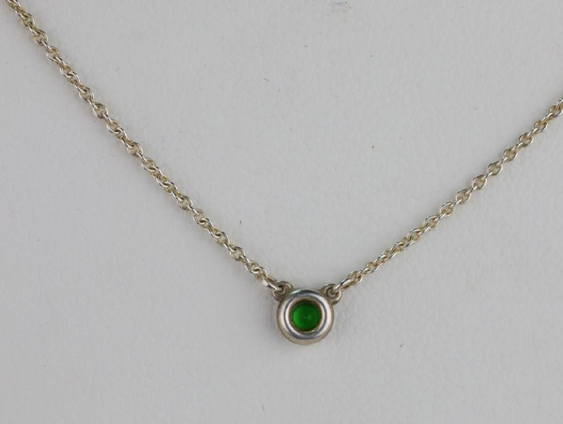 Tiffany & Co. Tsavorite Garnet Sterling Necklace - 3
