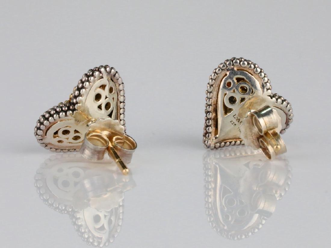 Lagos Caviar 18K/Sterling Silver Earrings W/Diamonds - 4