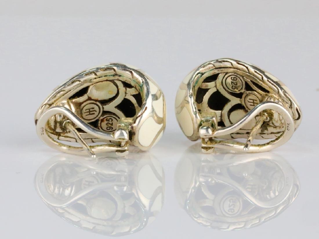 """John Hardy Sterling Silver & Enamel 1"""" Earrings - 3"""
