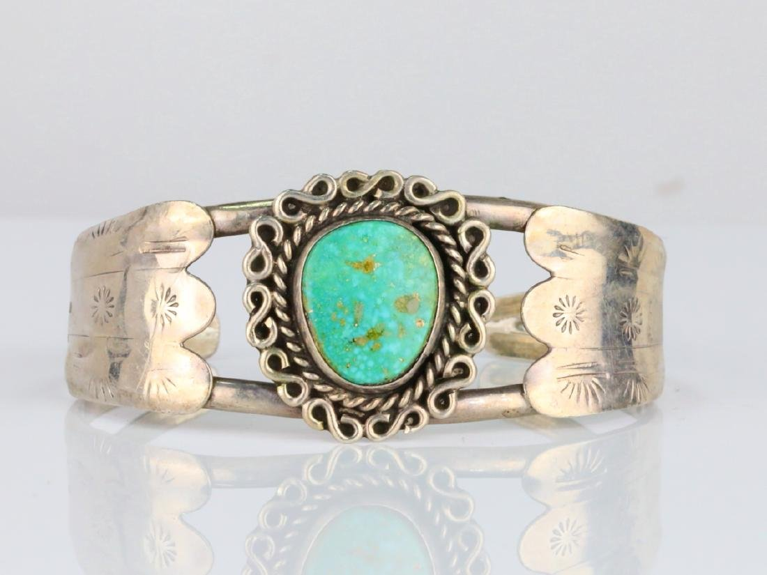 15.5mm Turquoise & Sterling Silver Cuff Bracelet