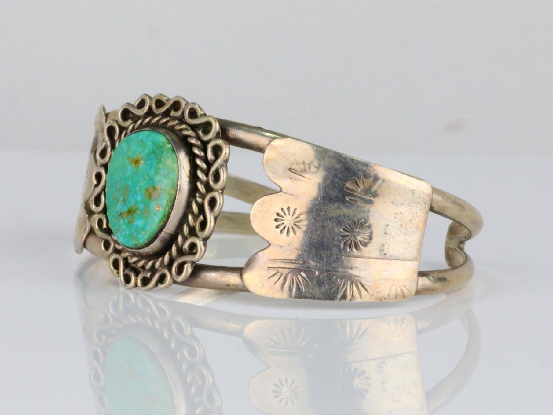15.5mm Turquoise & Sterling Silver Cuff Bracelet - 2