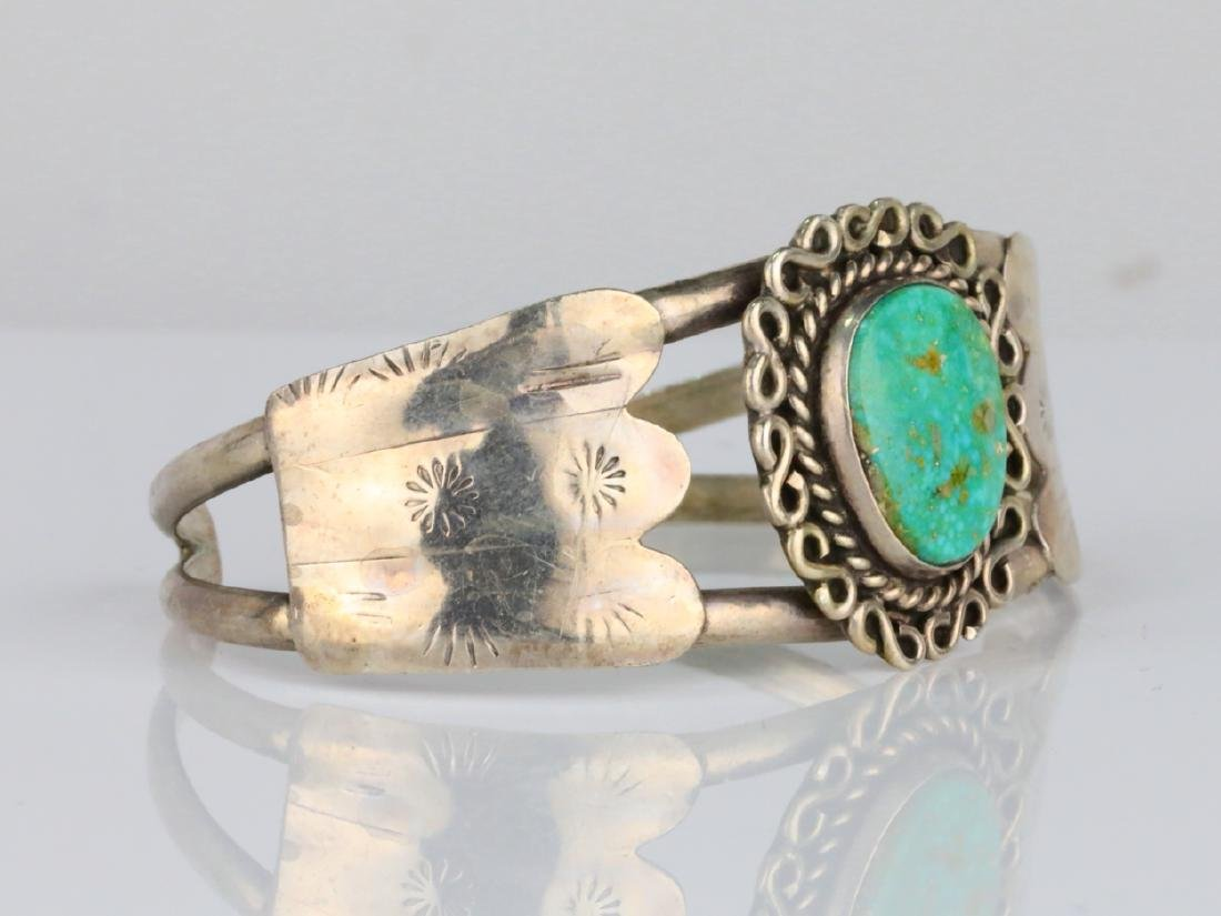 15.5mm Turquoise & Sterling Silver Cuff Bracelet - 3