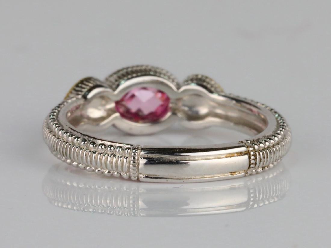 Judith Ripka Pink Topaz & Sterling Silver/18K Ring - 4