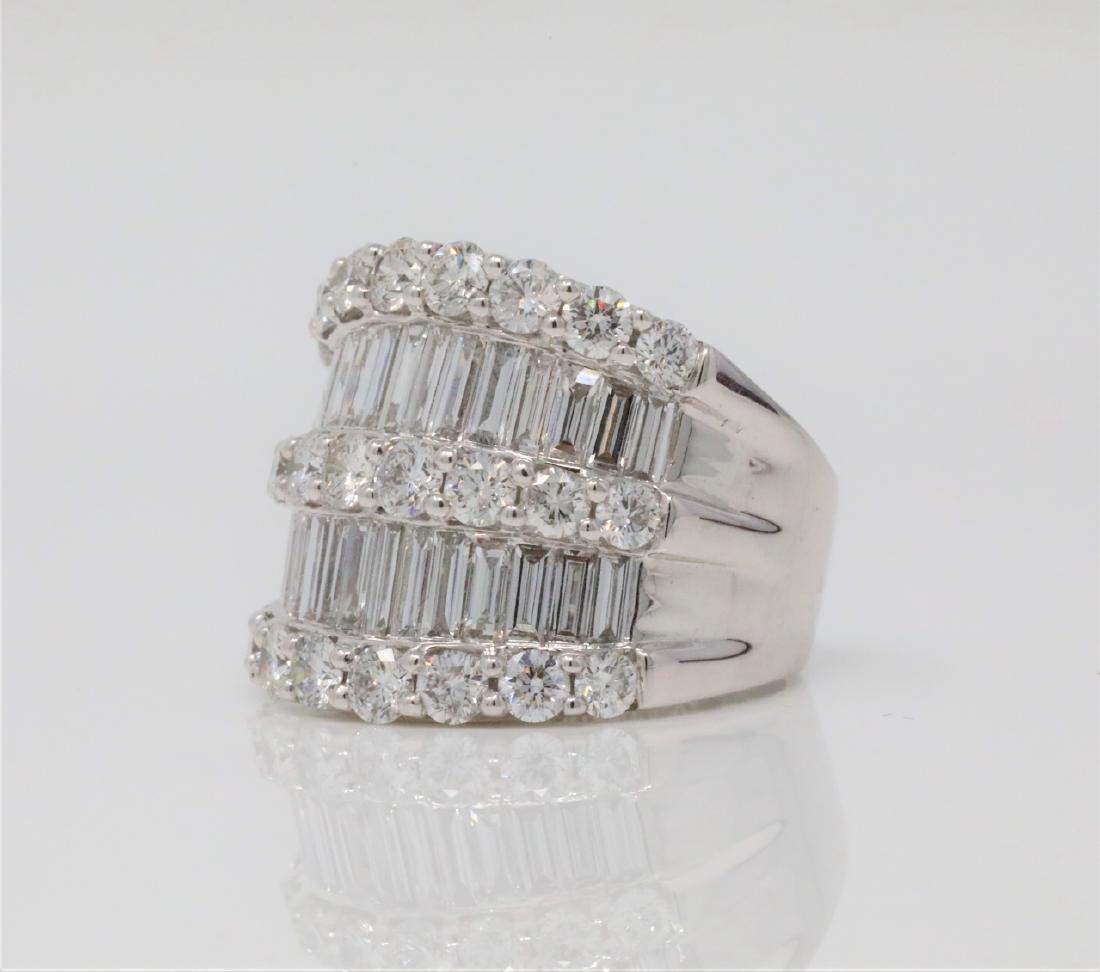 4.30ctw VS2-SI1/G-H Diamond & 18K 19mm Wide Ring - 2