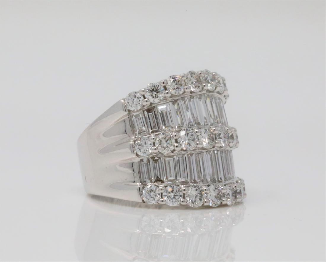 4.30ctw VS2-SI1/G-H Diamond & 18K 19mm Wide Ring - 3