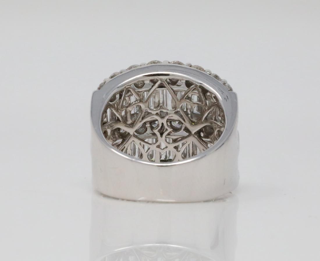 4.30ctw VS2-SI1/G-H Diamond & 18K 19mm Wide Ring - 4