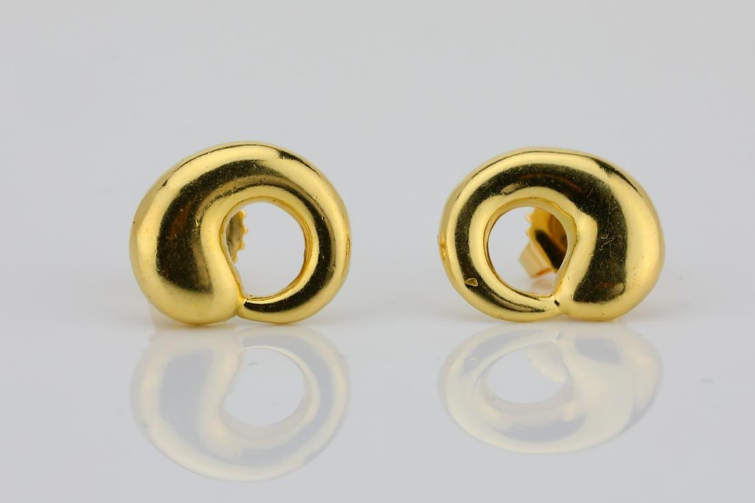 6e61ca57d Tiffany & Co. Elsa Peretti 18K Circle Earrings - Jan 12, 2019 | GWS  Auctions Inc. in CA