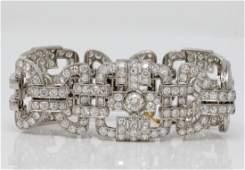 38.00ctw VS2-SI1/G-H Diamond & Platinum Bracelet