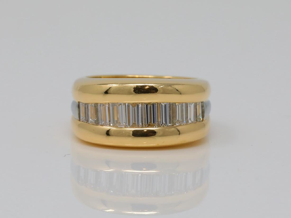 Jean Francois Albert 1.10ctw Diamond 18K Modernist Band