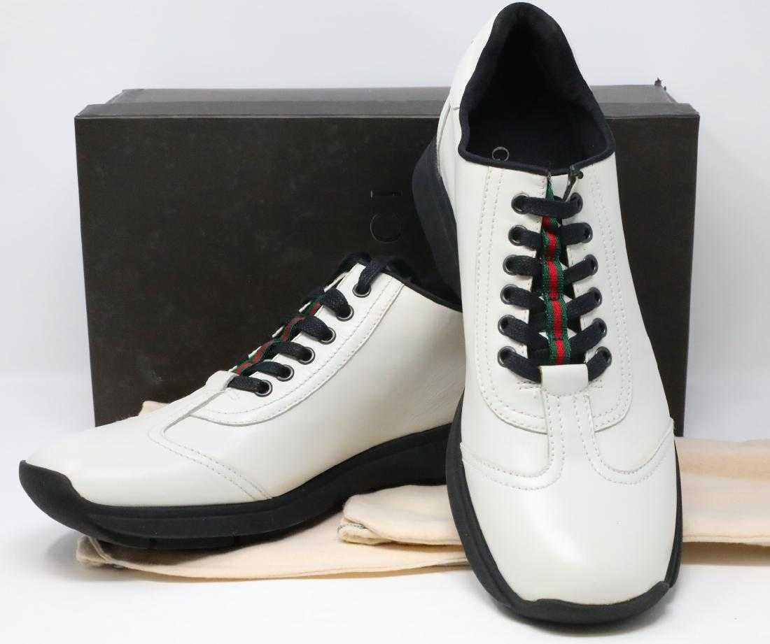e968a5a6c52 Gucci Vintage White Leather Men s Sneakers W Box