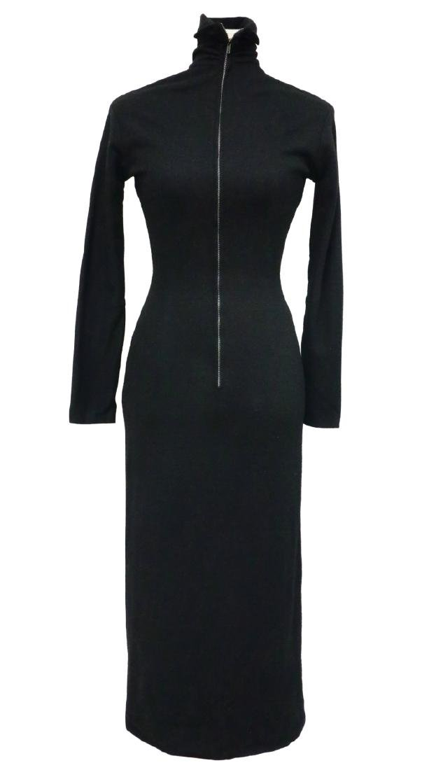 Marilyn Monroe's Black Wool Long Sleeved Dress