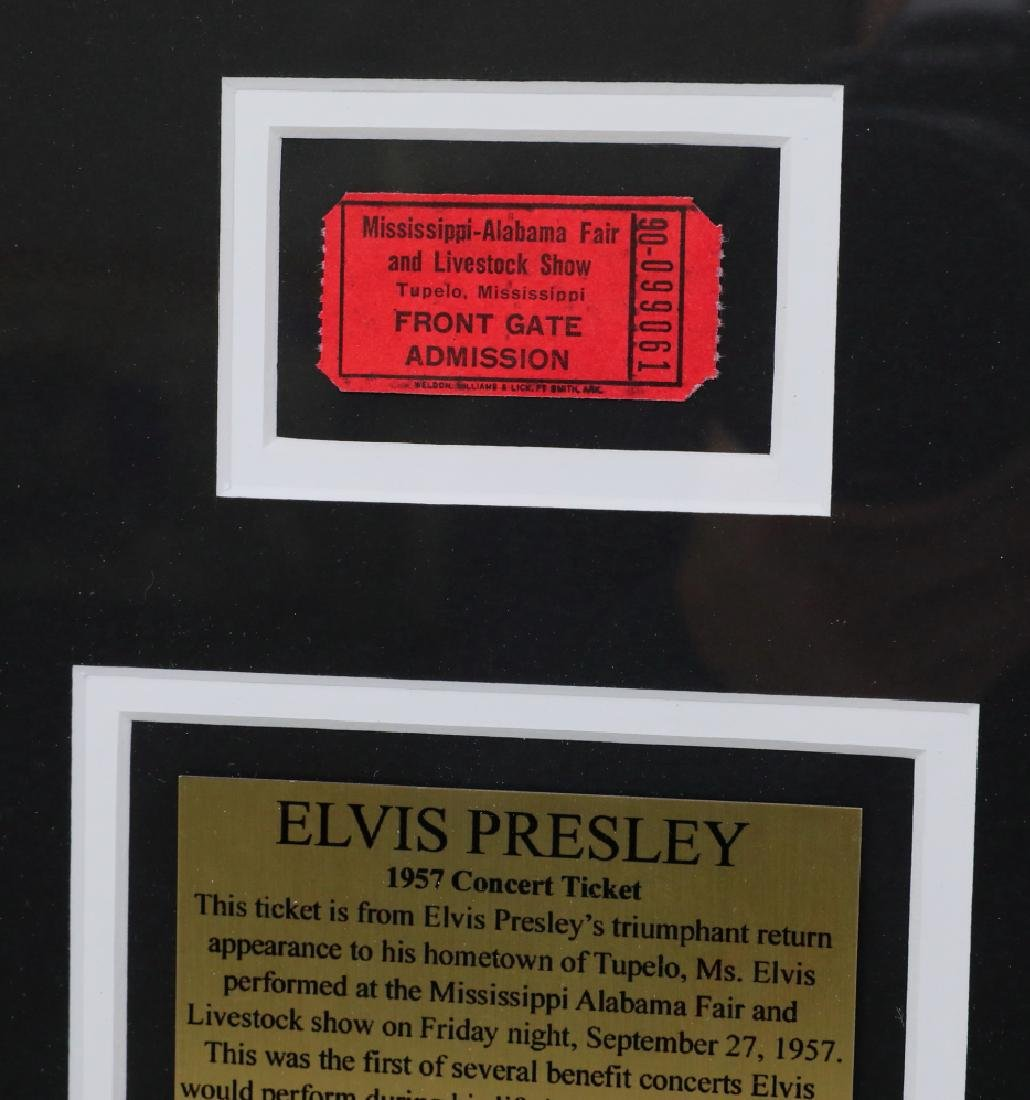 Elvis Presley 1957 Tupelo Benefit Concert Ticket - 4