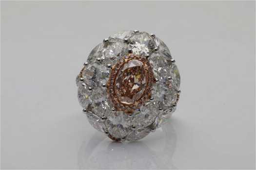 362391587a 1.34ct GIA Pink-Brown Diamond   5.95ctw Diamond Ring