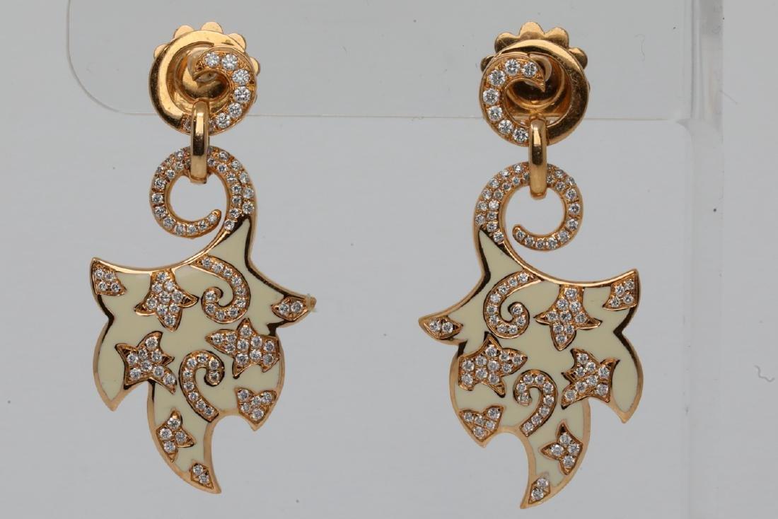 La Nouvelle Bague Diamond, Enamel & 18K Earrings
