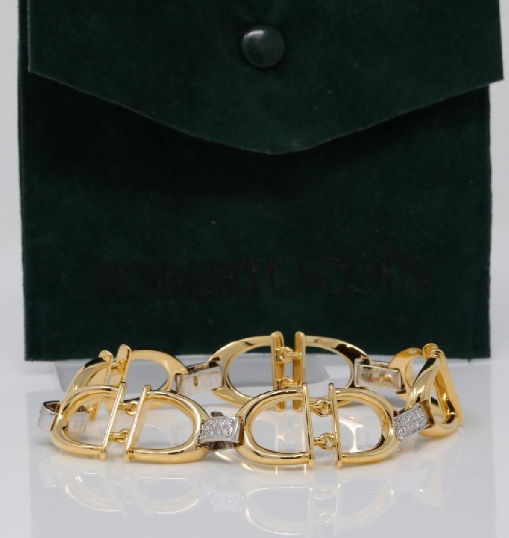 Roberto Coin .60ctw Diamond & 18K Horsebit Bracelet