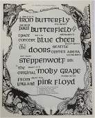 The Doors  Pink Floyd 1968 Concert Handbill